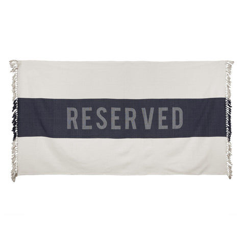 Reserved Beach Towel in Indigo