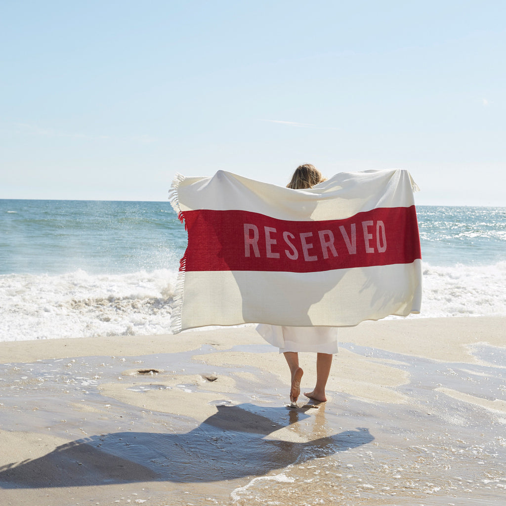 The Reserved Beach Towel Design by Sir/Madam travel product recommended by Akshay Makadiya on Lifney.