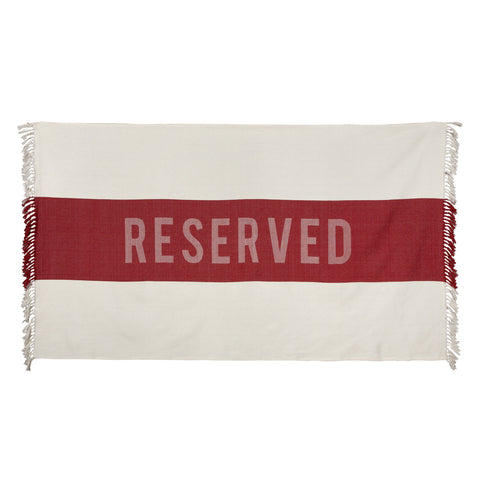 Reserved Beach Towel in Red