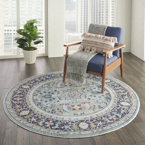 Ankara Global Rug in Teal/Multicolor by Nourison