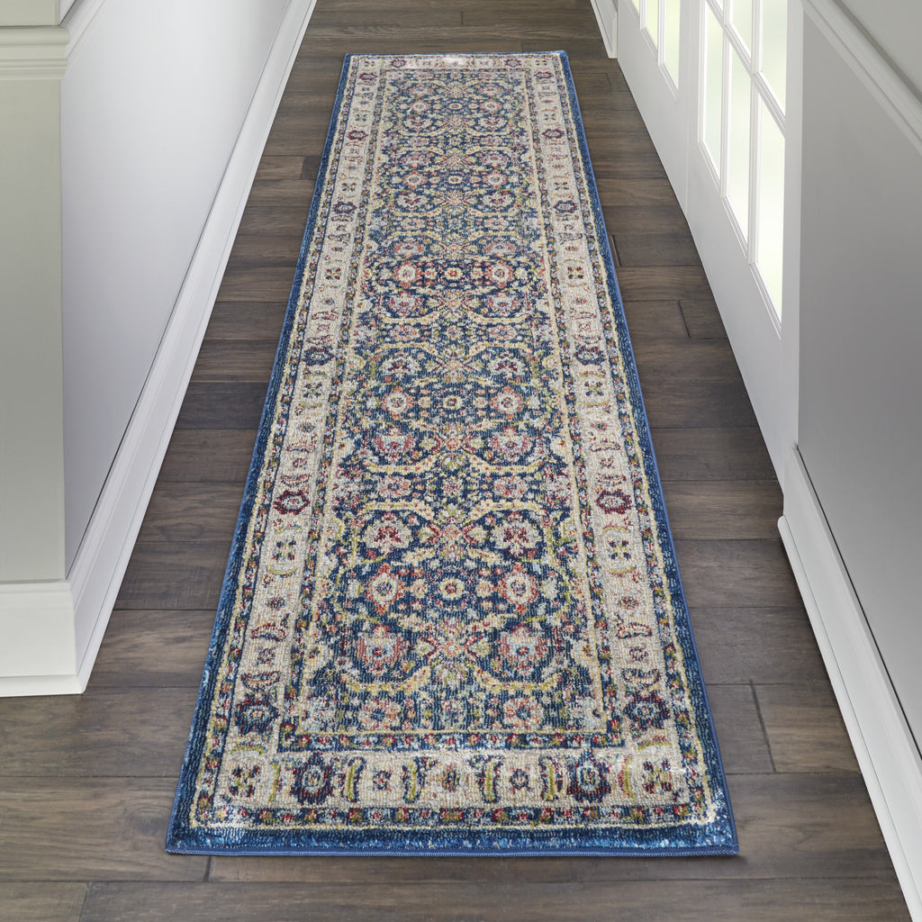 Ankara Global Rug in Navy/Multicolor by Nourison