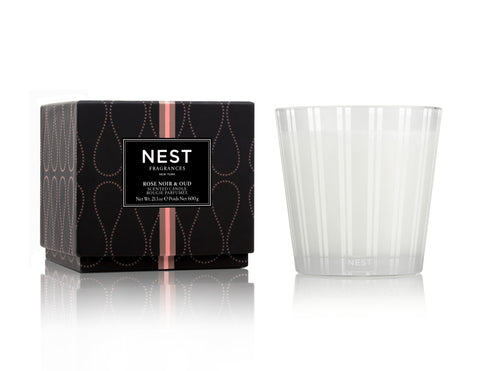 Rose Noir 3 Wick Candle design by Nest Fragrances