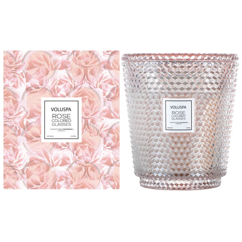 Rose Colored Glasses 5 Wick Hearth Candle