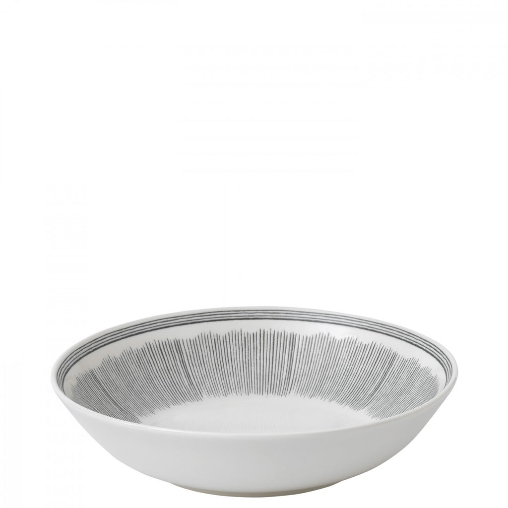 Charcoal Grey Lines Pasta Bowl by Ellen DeGeneres