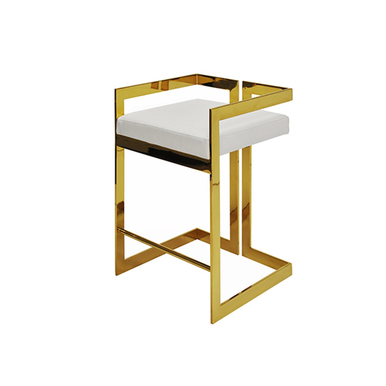 Counter Height Brass Stool in Various Colors
