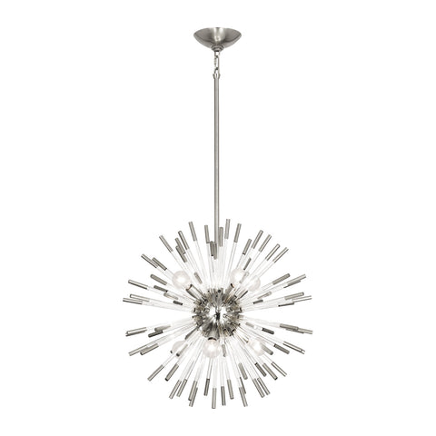 Andromeda Pendant in Polished Nickel Finish w/ Clear Acrylic Accents by Robert Abbey