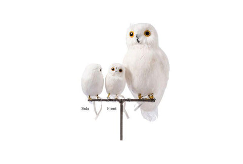 Artificial Birds/Owl White - Small Front