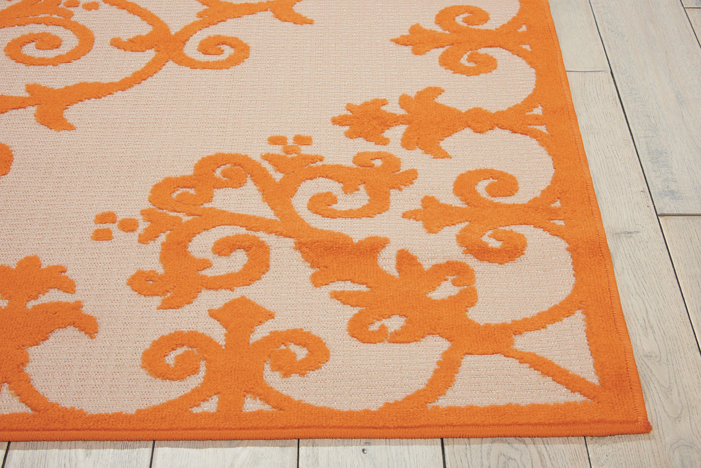 Aloha Indoor-Outdoor Rug in Orange by Nourison