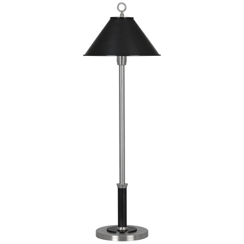 Aaron Table Lamp in Dark Antique Nickel & Deep Patina Bronze design by Robert Abbey