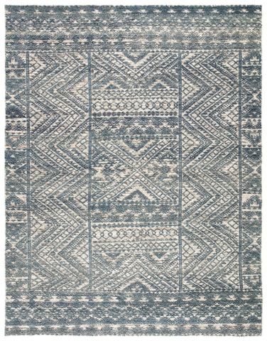 Prentice Hand-Knotted Geometric Blue/ Ivory Area Rug by Jaipur Living
