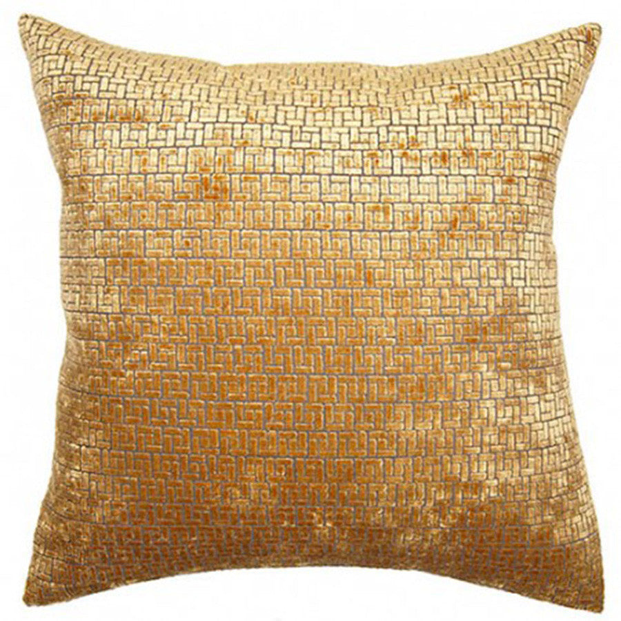 Saffron Weave Pillow in various sizes design by Square feathers