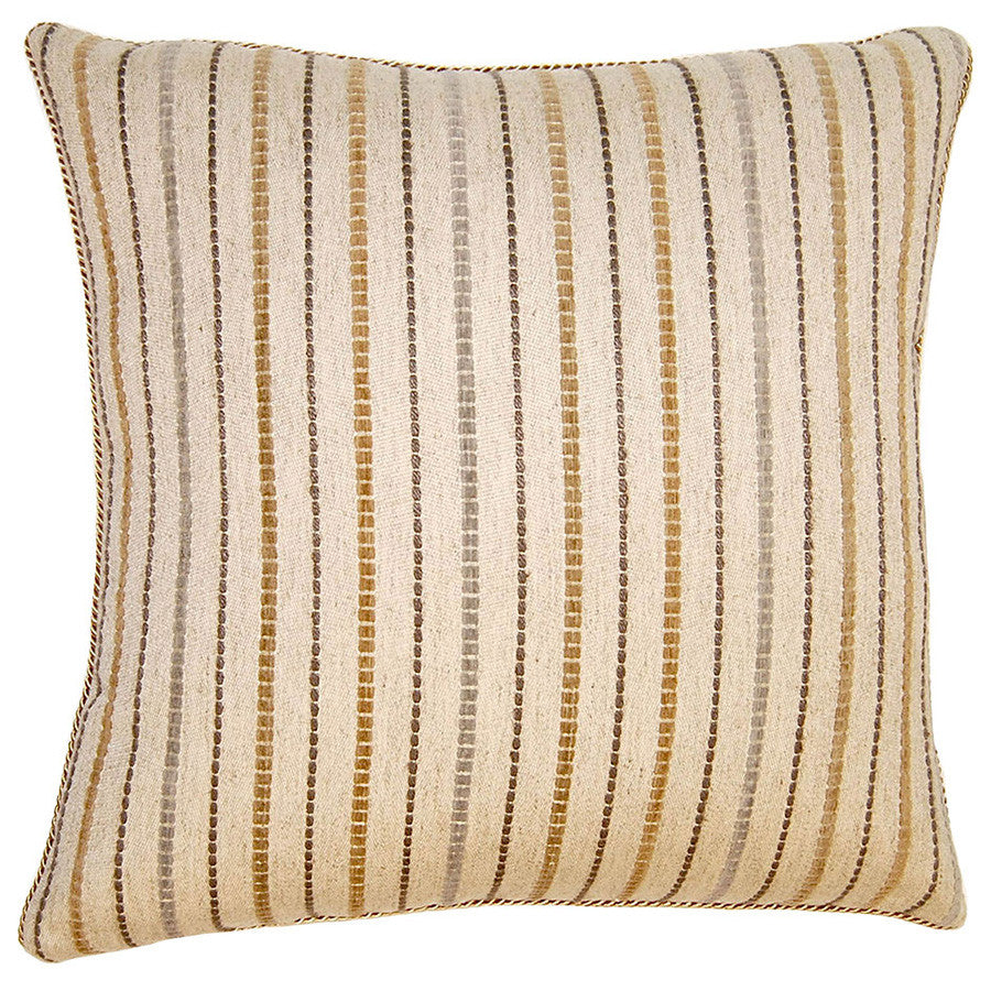 Sahara Stripe Pillow in various sizes design by Square feathers