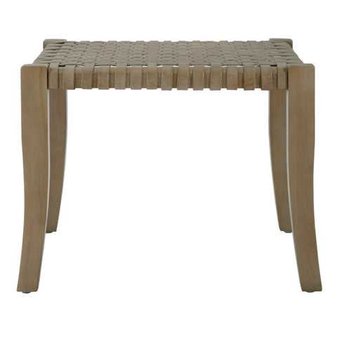 Sasha Leather Woven Stool design by Selamat