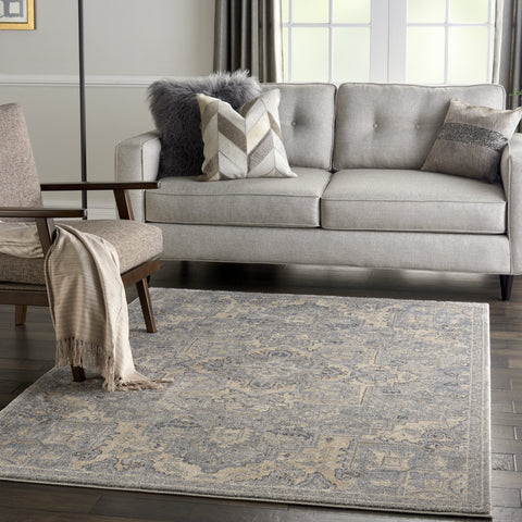 Moroccan Celebration Rug in Silver by Kathy Ireland