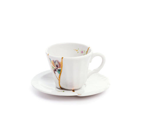 Kintsugi Coffee Cup with Saucer 3