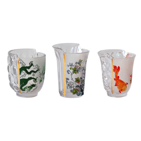 Hybrid-Agulaura Set of 3 Drinking Glasses design by Seletti