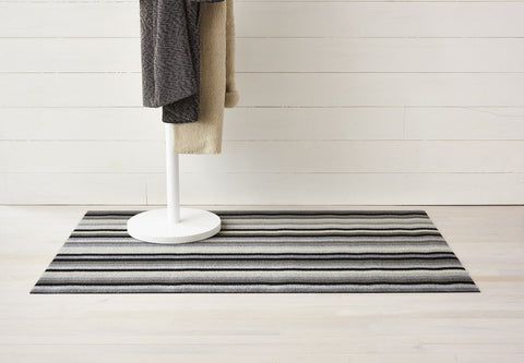 Even Stripe Shag Mat by Chilewich