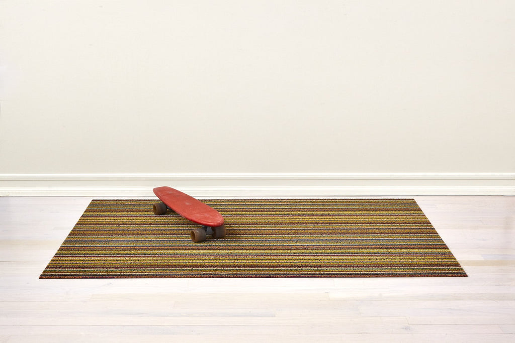 Skinny Stripe Shag Mats by Chilewich