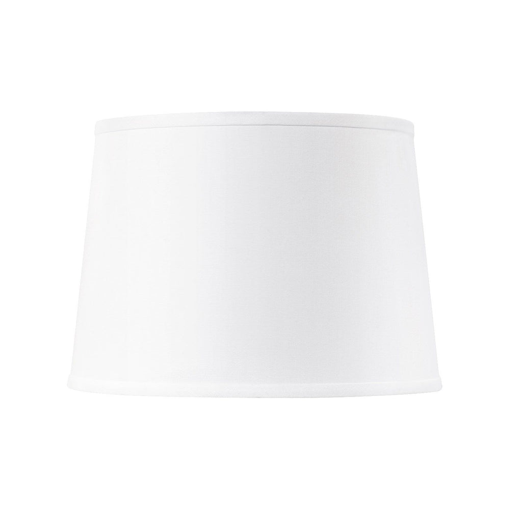 Shade 14-Inch with Nickel in White Linen design by Bungalow 5