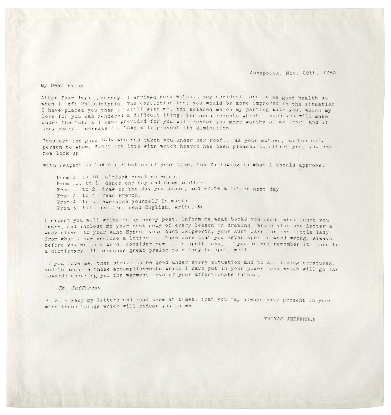 Letters of Advice Ed  No  3 Napkins design by Sir/Madam