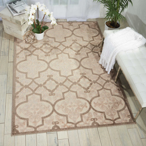 Aloha Indoor-Outdoor Rug in Cream by Nourison