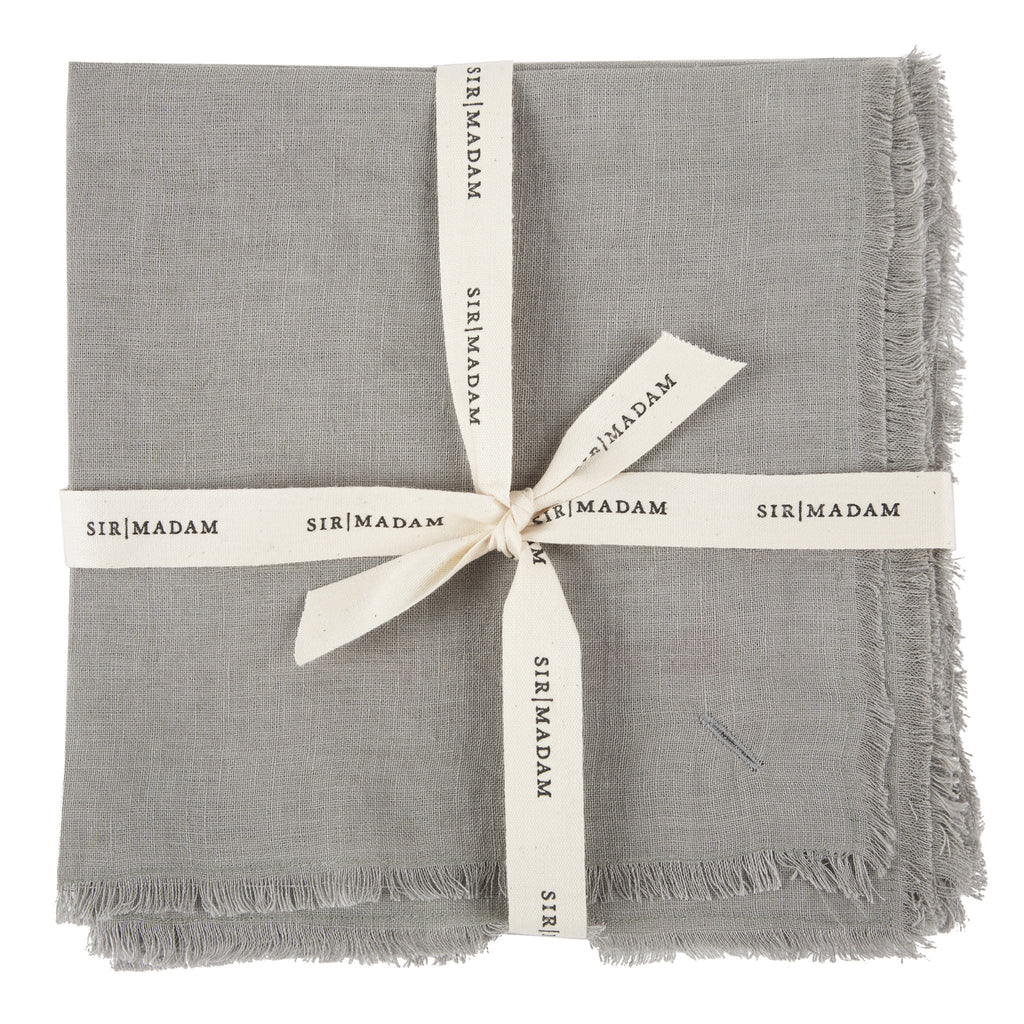 Solid Linen Napkins Set of 4 in Dove design by Sir/Madam