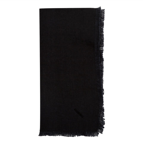 Solid Linen Napkins Set of 4 in Faded Black design by Sir/Madam