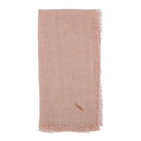 Solid Linen Napkin Set of 4 in Salmon