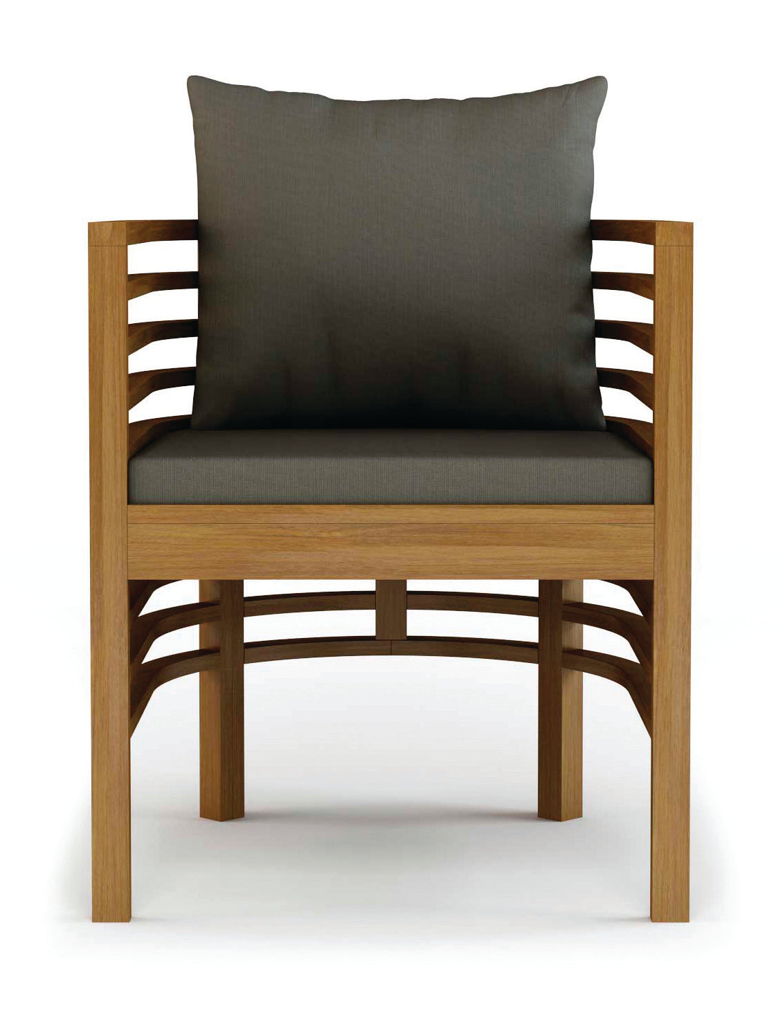 Spirals teak dining armchair by bd outdoor burke decor