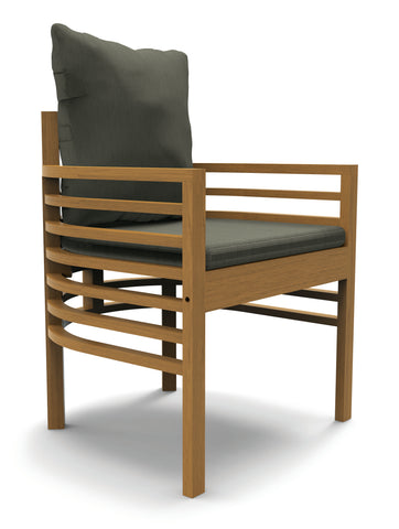 Spirals Teak Dining Armchair by BD Outdoor