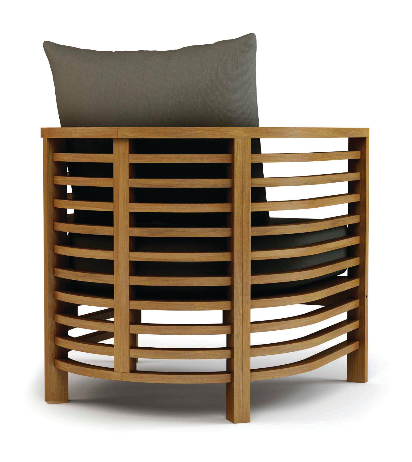 Spirals teak lounge chair by bd outdoor burke decor