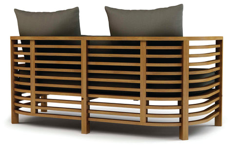 Spirals Teak Loveseat by BD Outdoor