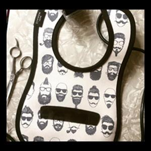 Barbershop Baby Bib by Mini Maniacs