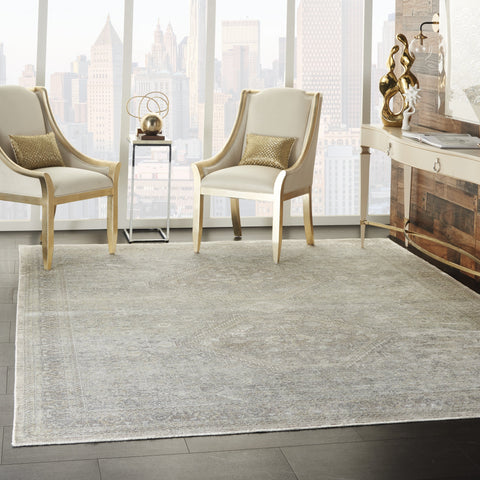 Starry Nights Rug in Cream Grey by Nourison