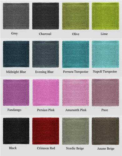 St. Germain Collection Solid Area Rug in Assorted Colors design by Second Studio
