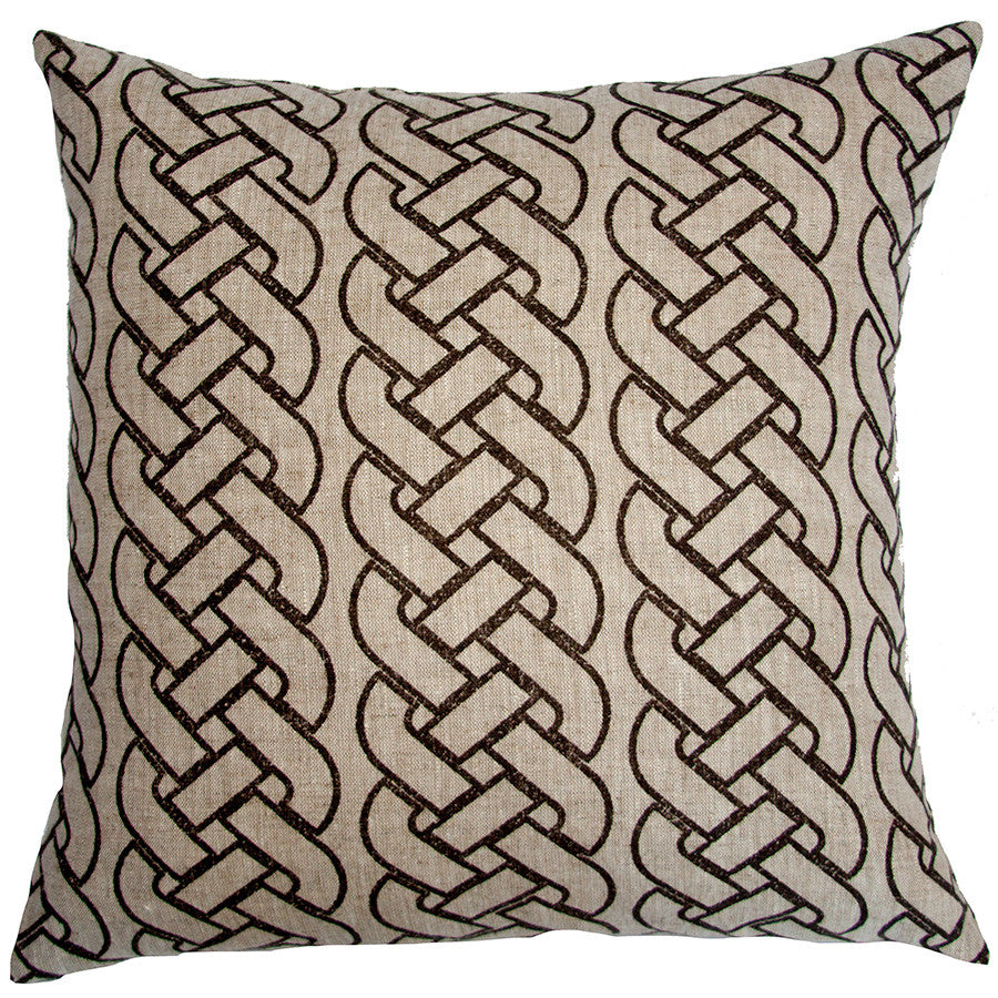 St. Tropez Brown Braid Pillow in various sizes design by Square feathers