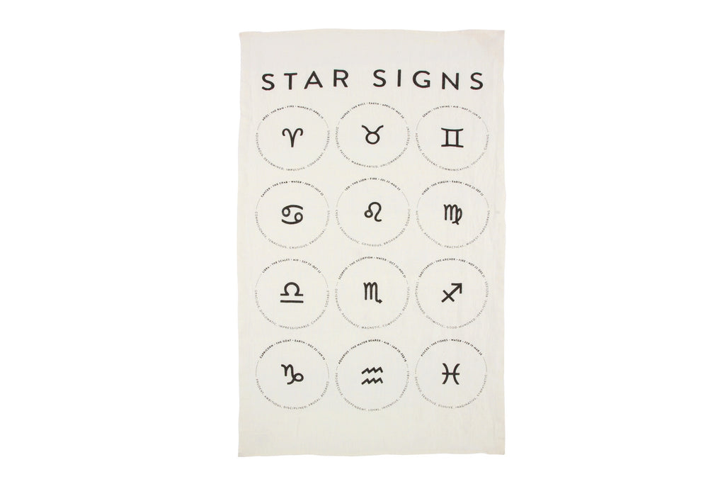 Star Signs Tea Towel design by Sir/Madam