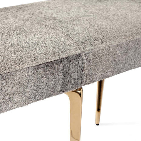 Stiletto Hide Bench in Brass by Interlude Home