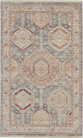 Homestead Rug in Light Blue Multi by Nourison