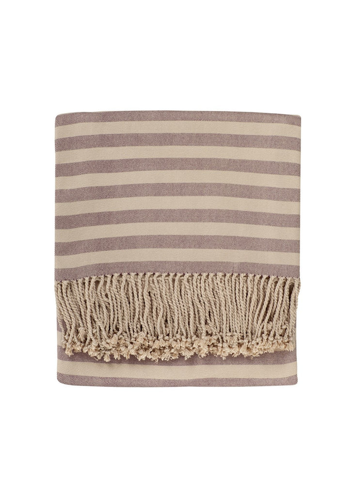 purple striped bamboo throw