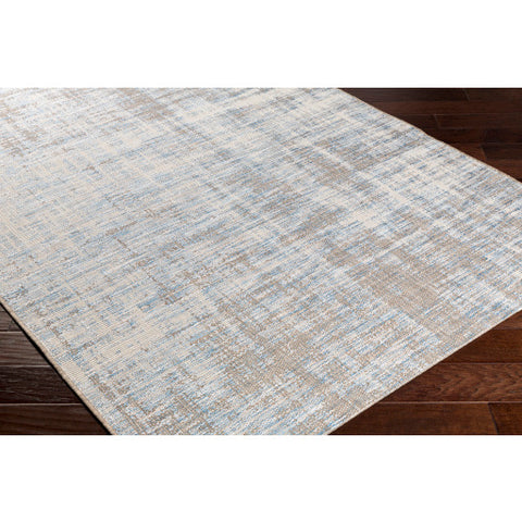 Santa Cruz Outdoor Rug in Sky Blue & Taupe design by Surya