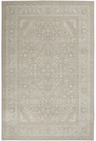 Malta Rug in Beige & Grey by Kathy Ireland