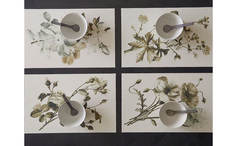 Sepia Plants & Flowers Placemats by John Derian + Chilewich