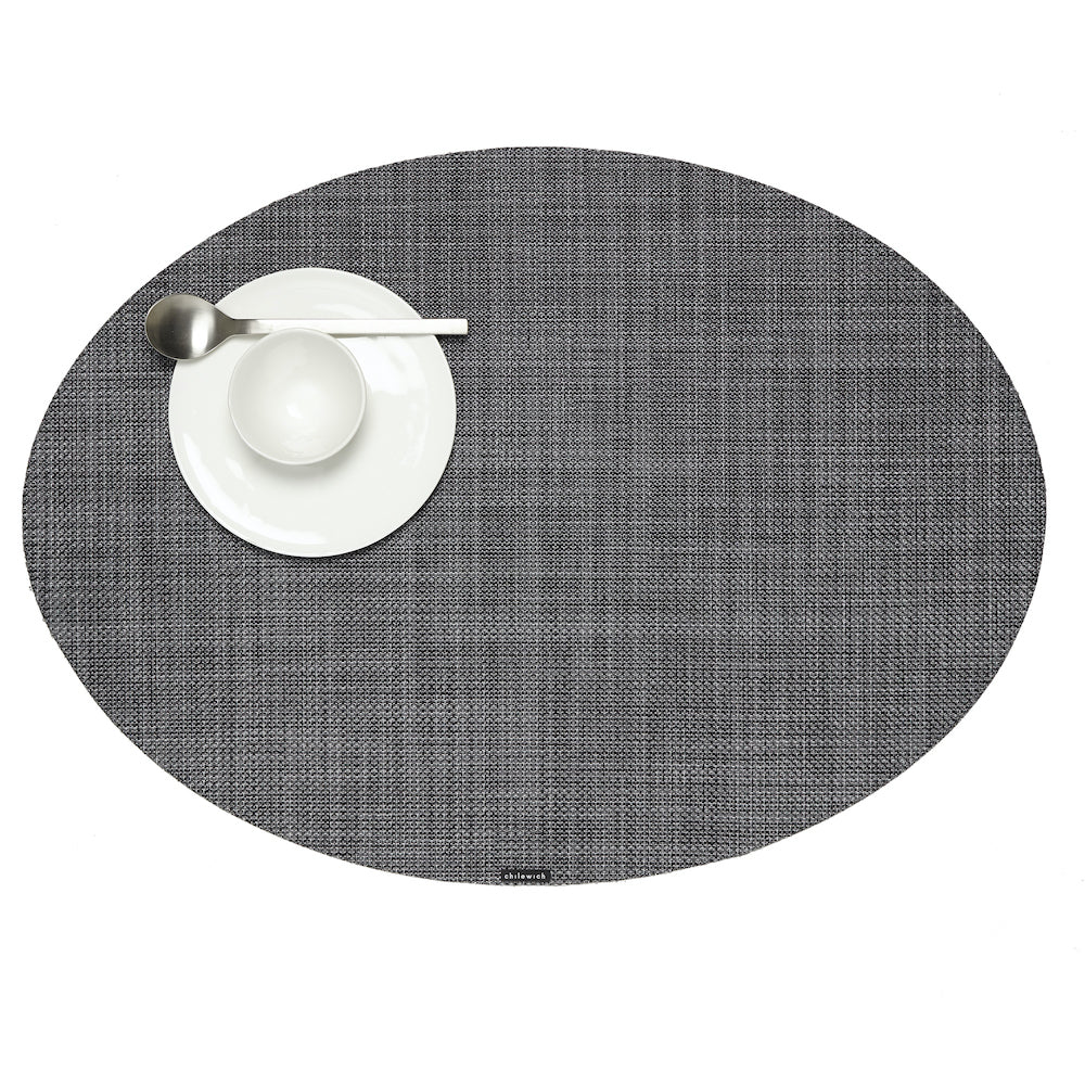 Mini Basketweave Oval Tablemat in Multiple Colors design by Chilewich