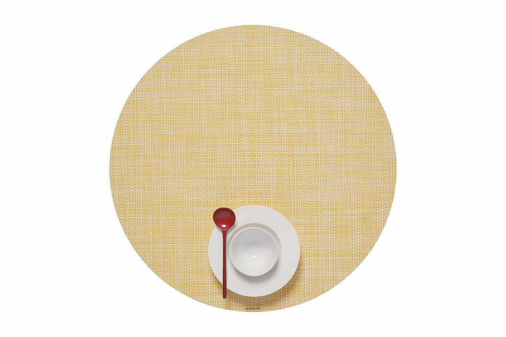 Mini Basketweave Round Placemats by Chilewich