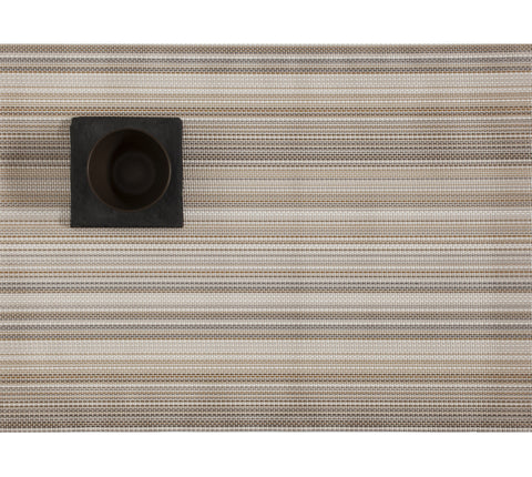 Multi Stripe Rectangle Placemat in Champagne design by Chilewich