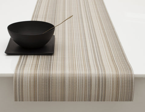 Multi Stripe Runner Placemat in Champagne design by Chilewich