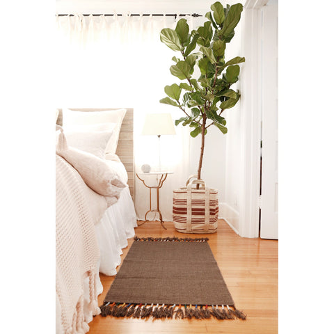 Tassle Handwoven Rug in Mocha in multiple sizes