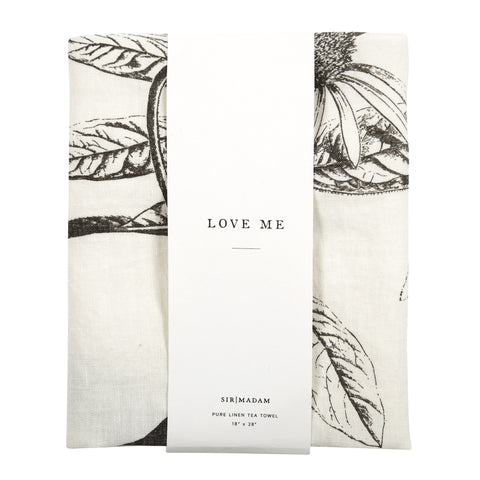 Love Me Tea Towel design by Sir/Madam