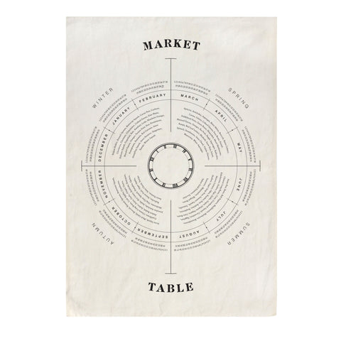 Market Table Tea Towel design by Sir/Madam